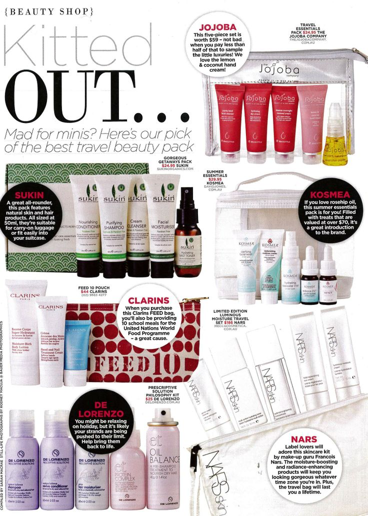 OK Magazine December 25 - Sukin Gorgeous Getaways features in 'Kitted Out'.