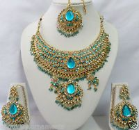B-6048 Indian Bollywood Costume Kundan Diamante Necklace Set Fashion Jewelry
