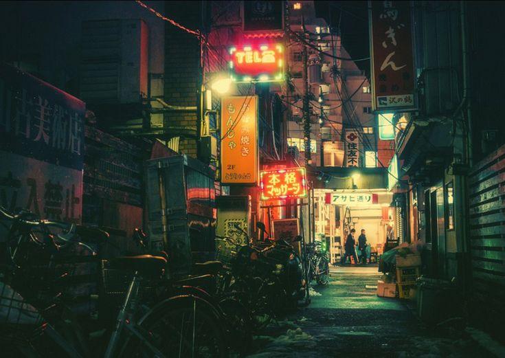 Οι φωτογραφίες του Ιάπωνα Masashi Wakui μοιάζουν να εξερευνούν το φωτεινό τοπίο του Νυχτερινού Τόκιο.