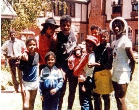 Michael at home with Family