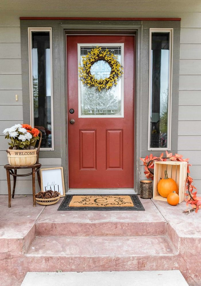 Fall Front Porch Decorating Ideas On A Budget Joyfully Growing Blog Fall Front Porch Decor Fall Patio Decor Fall Patio