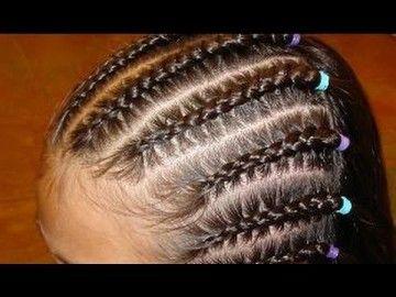 cabelos com trança rasteira
