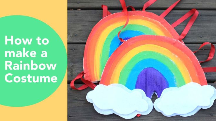 How to make a Rainbow Costume | Cardboard costume tutorial | No sew hall...