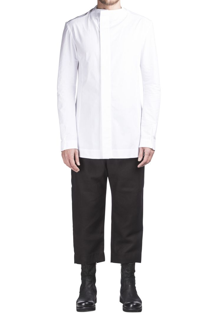 Sosnovska White Cotton Shirt #Shopafar #Sosnovska #luxury #fashion #ss15 #avantgarde