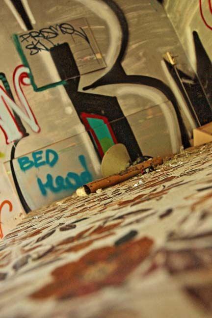Abandoned hotel in Glebe. Bedhead.
