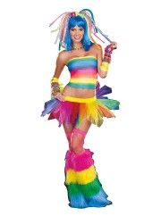 "I like the idea of the leg ""warmers"", though, I would want a longer skirt....Kandi Kid Womens Costume"