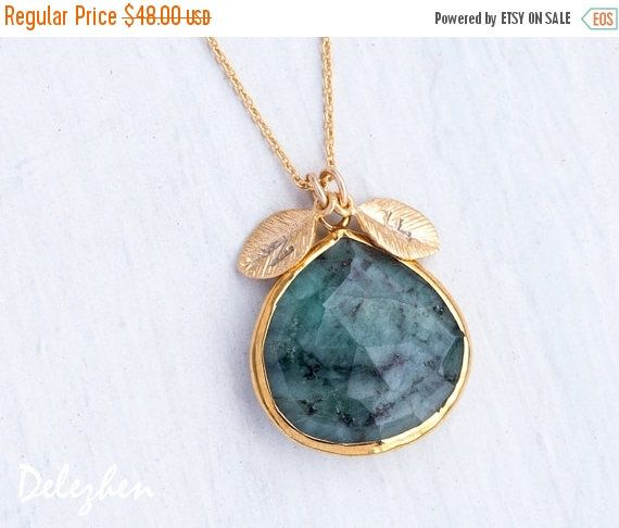 SALE - Mothers Necklace Birthstone, Raw Emerald Personalized Mothers Day Gift, Mom Jewelry, Mom Gifts, Mothers Jewelry, Mothers Necklace Gol  $40.80