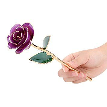 24K Oro Sumergido Flor de Rosa con Caja de Regalo para Cumpleaños, regalo de Boda , Aniversario , Día de Madre ,de San Valentín... varios colores