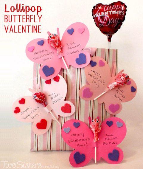 Lollipop Butterfly Valentine