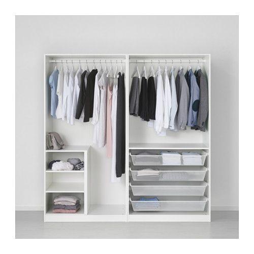 PAX Wardrobe, white, Bergsbo white soft closing hinge 78 3/4x23 5/8x79 1/4