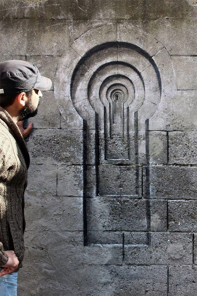 Optical Illusions: Street Art by Pejac http://restreet.altervista.org/la-street-art-minimalista-di-pejac/