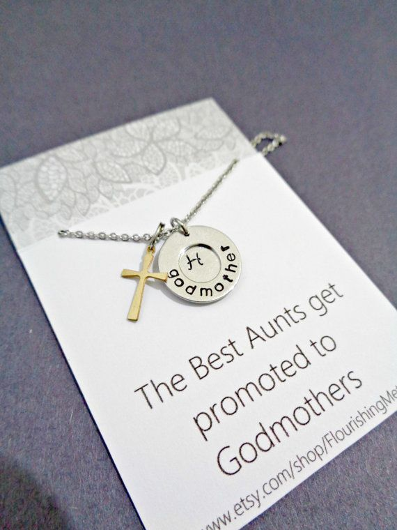Celebrate with this special gift for a Baptism or Christening with this godmother necklace for your chosen godmother-to-be aunt. This all 100%