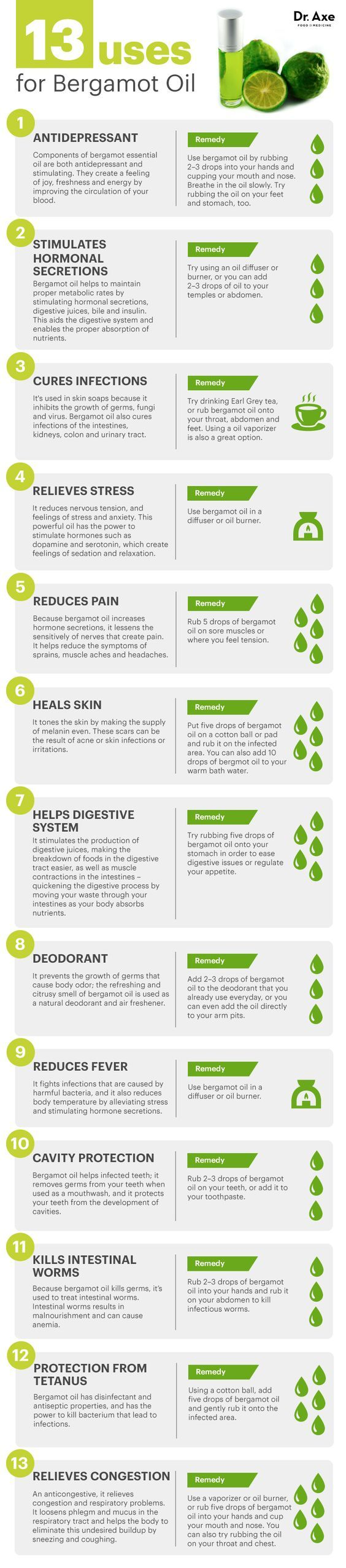 13 Bergamot Oil Uses  http://www.draxe.com #health #holistic #natural:
