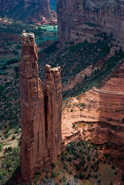 Spider Rock, Canyon de Chelly National Monument, Arizona (Navajo Reservation)