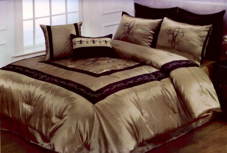 Hallmart Fleur De Lis King 9 Piece Comforter Set New