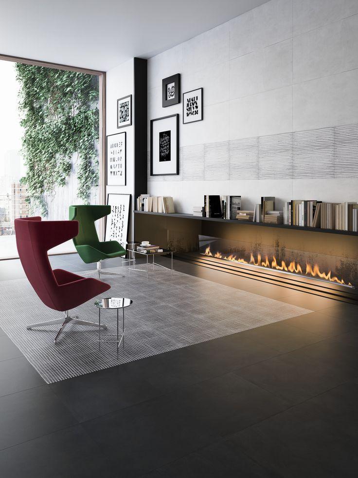 Een product met modern karakter en een gave ruit: wolken en lichte krasjes maken dit tot een look a like leisteen.  Formaten: 30x60, 60x60  (37-DE), Tegelhuys