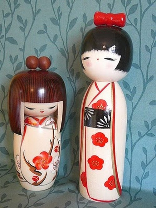 Kokeshi Wooden Dolls from Japan