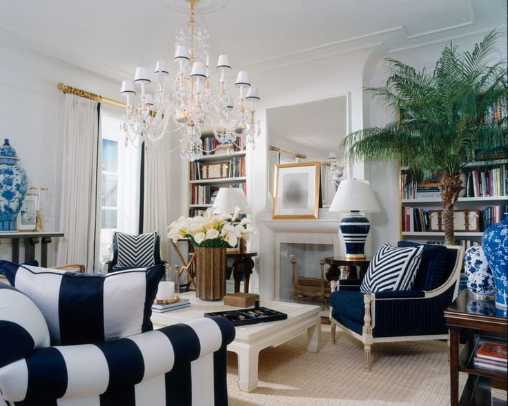 Favorite For Living RoomJust Lovely This Ralph Lauren Room Is Brilliant I Love The Elegant Kick Of Blue And Tropical Touches
