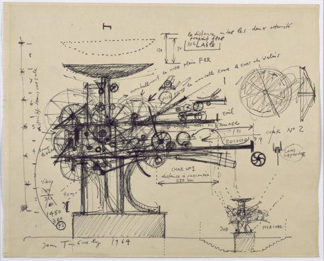 Jean Tinguely 'Heureka' 1964  http://www.artexperiencenyc.com/social_login/