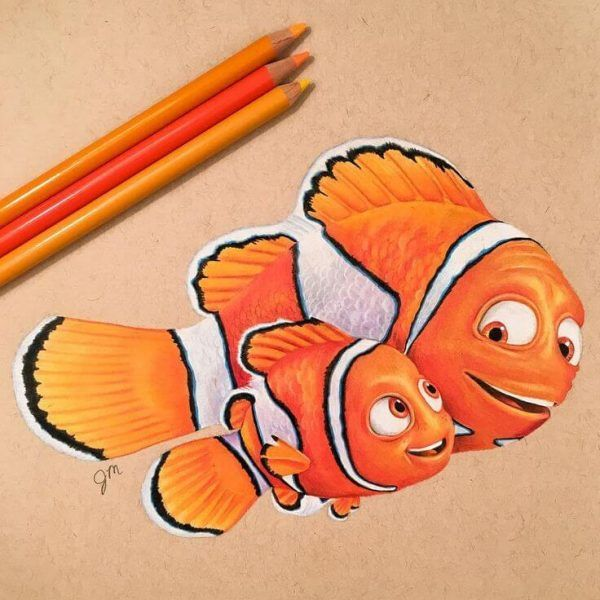 25 cool things to draw that are easy and fun for beginners color pencil drawing disney character drawings colorful drawings disney character drawings