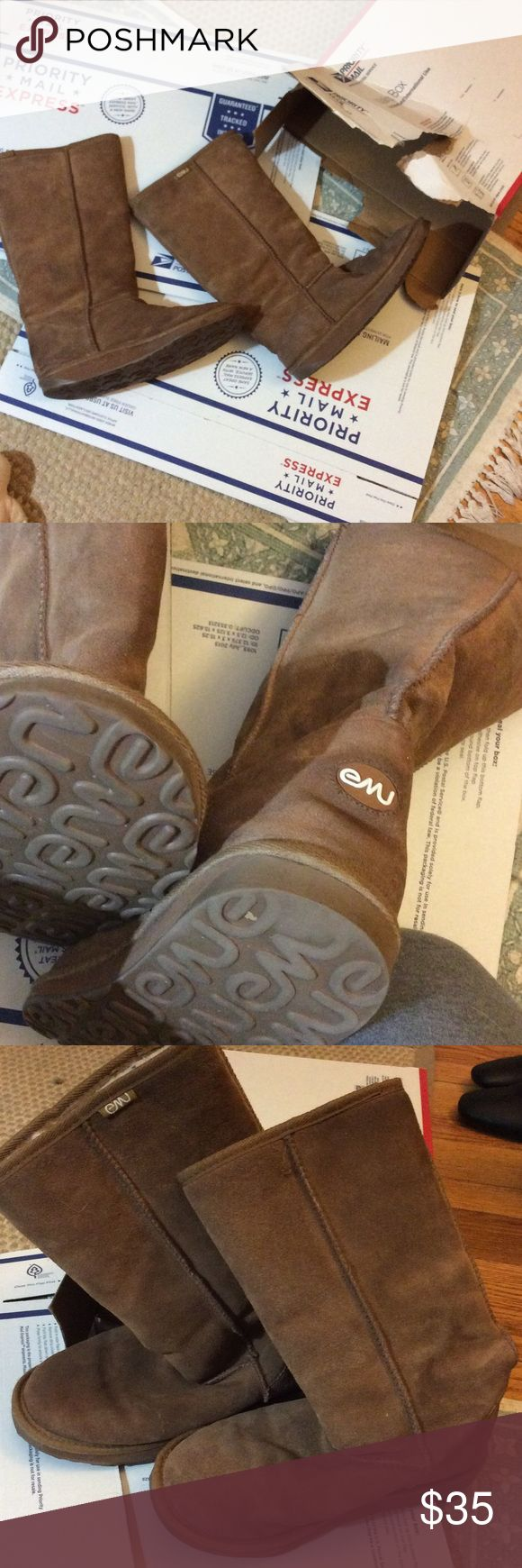 Emu boots Tall emu boots Lamb fur lined Size 7 Good used condition  Some wear on heels  I can't tell the difference between these emus and UGGs very comparable Emu Shoes Winter & Rain Boots