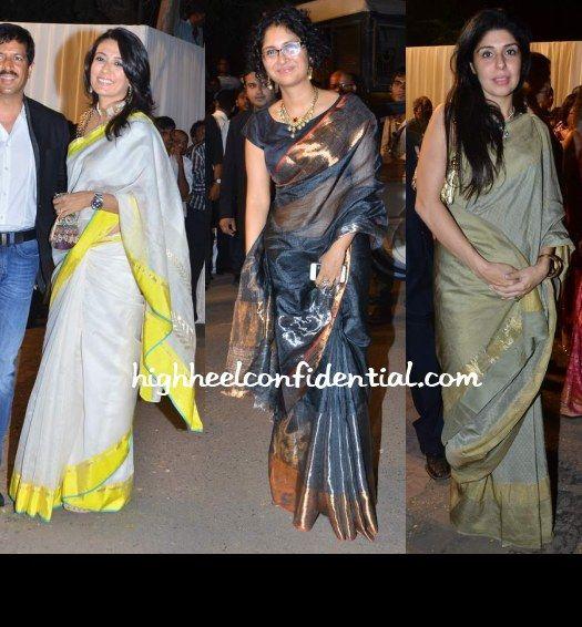 mini mathur and kiran rao saree style