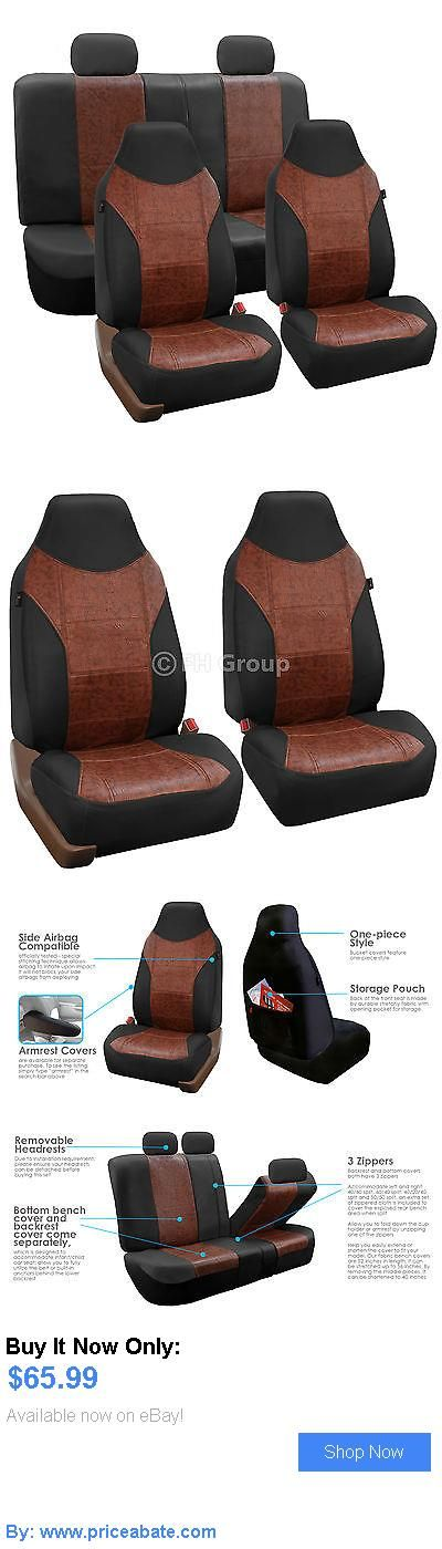 Luxury Cars: Luxury Pu Leather Car Seat Cover Sporty Look Black Brown For Car Suv BUY IT NOW ONLY: $65.99 #priceabateLuxuryCars OR #priceabate