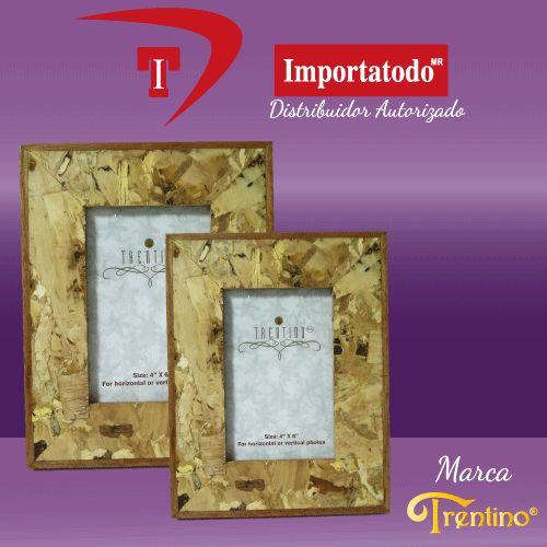 Portaretrato de Madera marca TRENTINO. Modelo PR-289-6, diferentes tamaños de fotos (6x8, 5x7, 4x6)