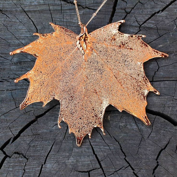 rose gold dipped large maple leaf necklace by nest | notonthehighstreet.com