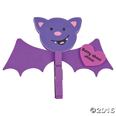 Batty for Jesus Clothespin Magnet Craft Kit