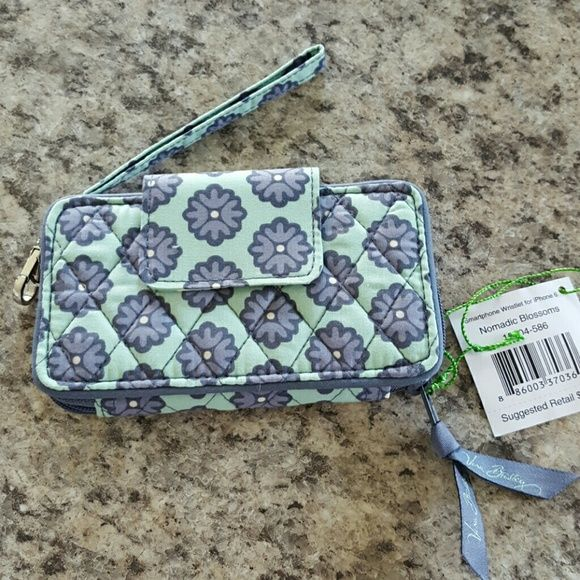 New Vera Bradley Wristlet for iPhone 6 NWT  New collection  Nomadic Blossoms Wristlet for iPhone 6 Vera Bradley Bags Clutches & Wristlets