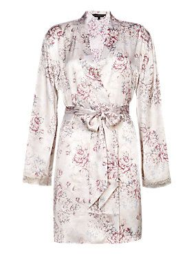 Cream Mix Rosie for Autograph Pure Silk Wrap Dressing Gown