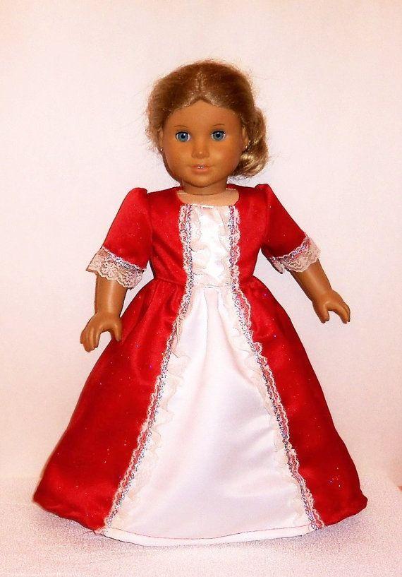Funkelnde rot Prinzessin Kleid 18-Zoll-Puppe von entirelyhomemade