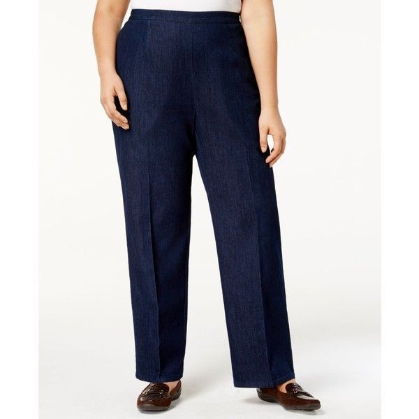 d2d90a9431a Alfred Dunner Womens Classic fit Pants Gypsy Moon Pull-On Indigo size 18  NEW https