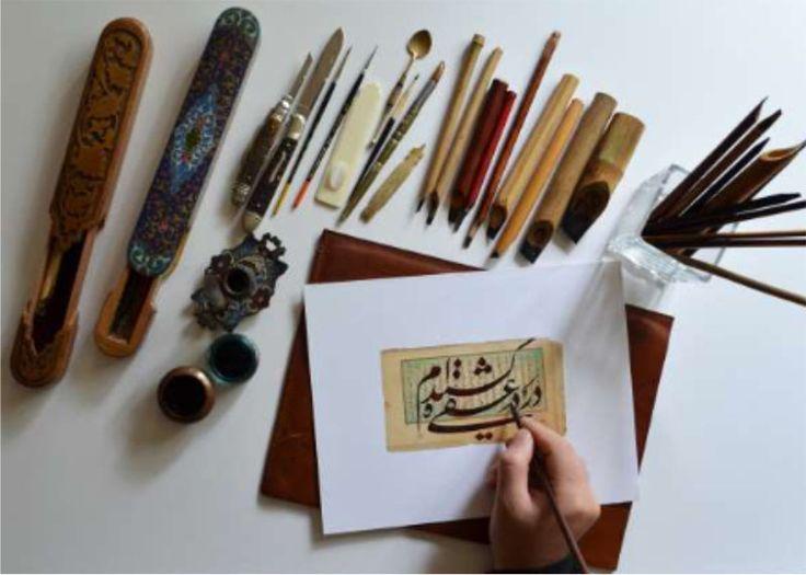 Cours de calligraphie Persane chez Fabriano Boutique par un Maître calligraphe de renom : Bahman Panahi. http://infos-75.com