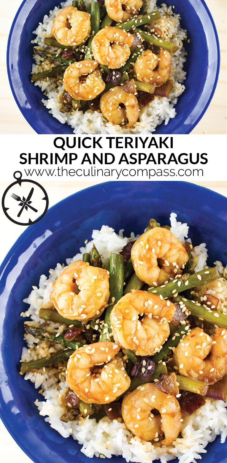 Strapped for time after work or just looking for a quick meal? Try this Quick Teriyaki Shrimp and Asparagus!