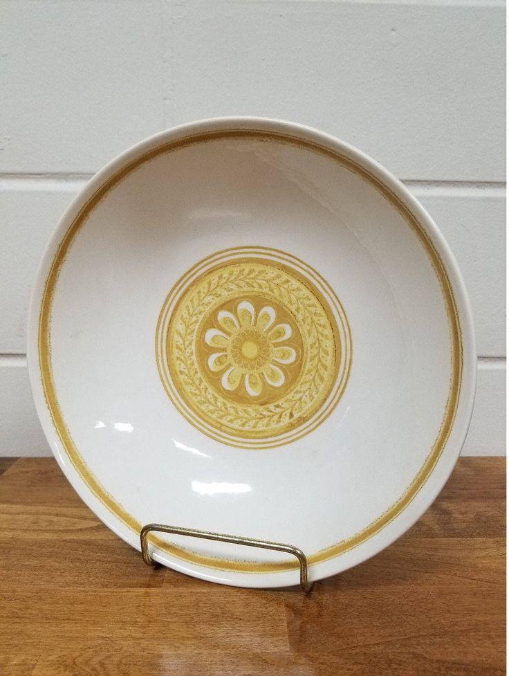 Vintage Dinnerware China Casablanca Cavalier Serving Bowl Retro Yellow Ironstone by TakeFiveVintage on Etsy