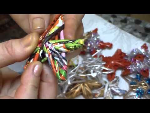 Paper decorations for a Christmas tree. Part 2. - YouTube