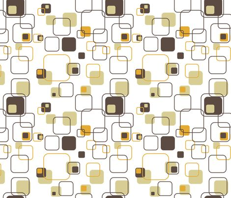 Mid Century Modern Retro Squares Fabric By Studiofibonacci On Spoonflower Custom Textiles Other Fibers Pinterest Midcentury