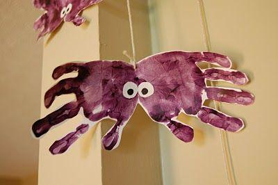 Halloween: Spider Handprint, Halloween Handprint, Hand Print Spider, Handprint Spider, Hand Spider, Halloween Spider
