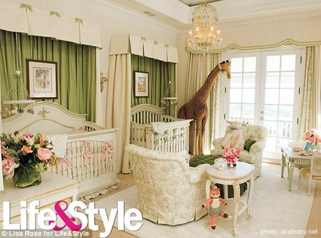 Celebrity Nursery ~ Mariah Carey & Nick Cannon's TwinsNurseries Room, Twin Room, Mariah Carey, Twin Baby, Twin Nurseries, Colors Schemes, Baby Room, Nick Cannon, Baby Nurseries