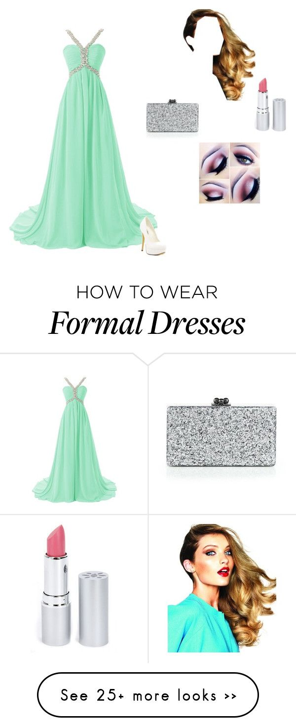 """Aqua dress"" by ondine-hall on Polyvore featuring Michael Antonio, Edie Parker and HoneyBee Gardens"