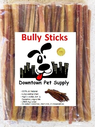 12 bully sticks regular select thick dog chew treats 12 inch 7 pack by downtown pet. Black Bedroom Furniture Sets. Home Design Ideas