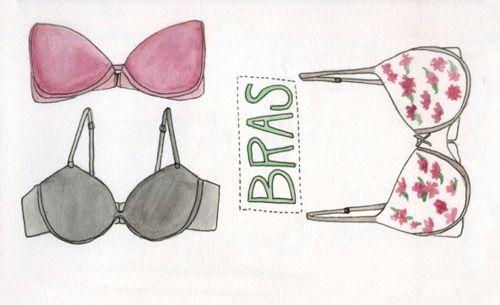 искусство, чёрный, наряд, мило, мода, модные картинки, цветочный, иллюстрация, розовый, текст, типография, нижнее белье, акварель