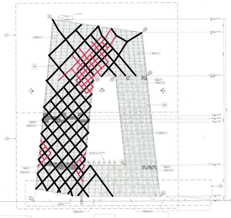 CASE STUDY - Koolhaas, Delirious in Beijing – CCTV Tower, The Big Pants, a disputed project of China       CCTV Tower, al...