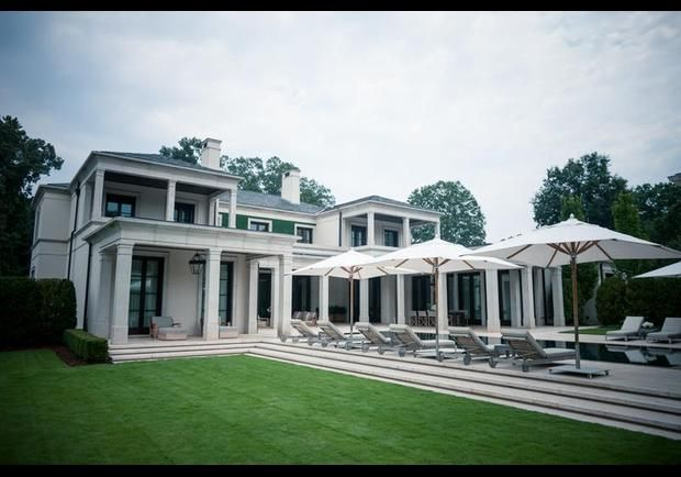 Jeff Gordon's home from the rear, in Charlotte, N.C. He and wife, Ingrid, also own a home in New York City and property in Colorado. Jeff Gordon Shifting Gears - pg.2