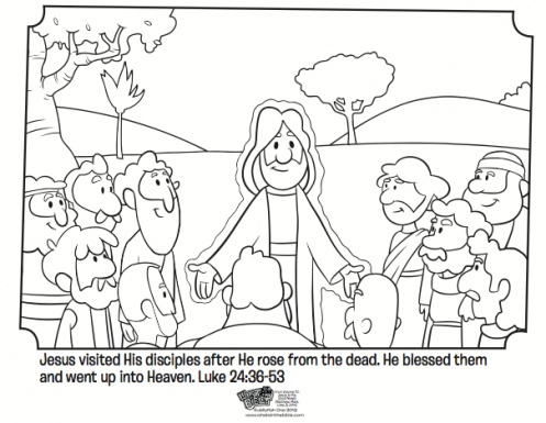 jesus and his disciples free easter coloring page