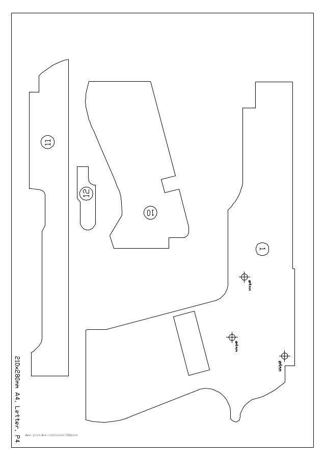 Hasil gambar untuk rubber band gun free plans
