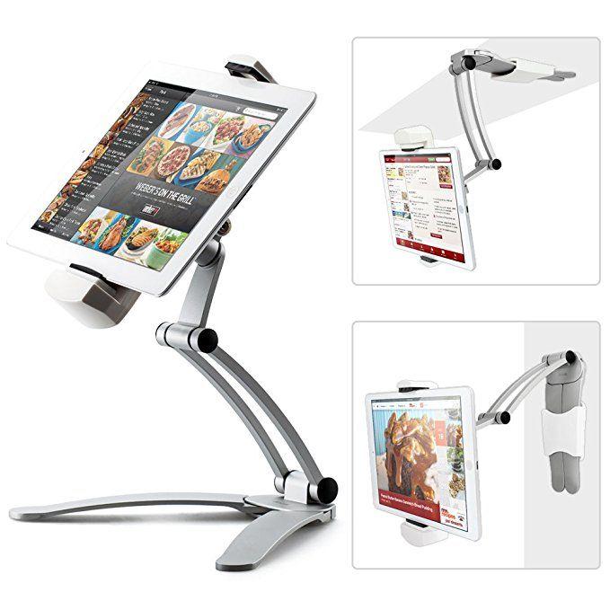 Kitchen Desktop Tablet//ipad//IPAD Air//Mini Stand Wall Mount iPad Holder Silver