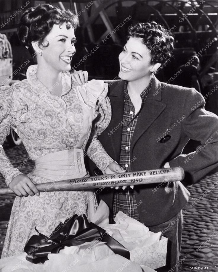 Ava Gardner and Kathryn Grayson on the set of Show Boat (1951)